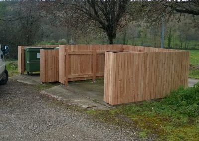 Fabrication cache container poubelle